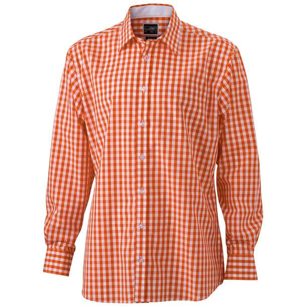 02.0617 James & Nicholson - JN 617 dark orange/white i92