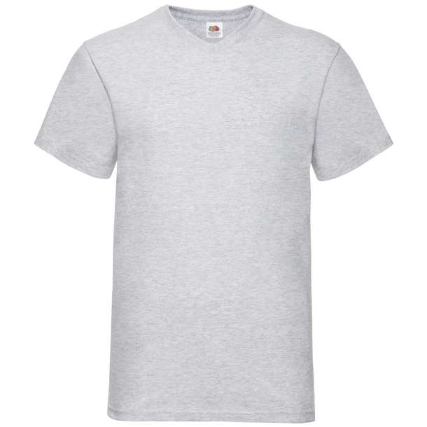 16.1066 F.O.L. - Valueweight V-Neck T heather grey 610