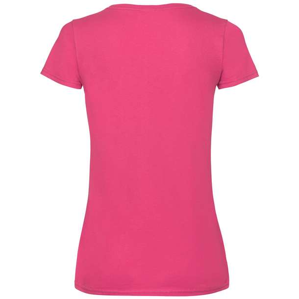 16.1398 F.O.L. - Lady-Fit Valueweight V-Neck T fuchsia 310