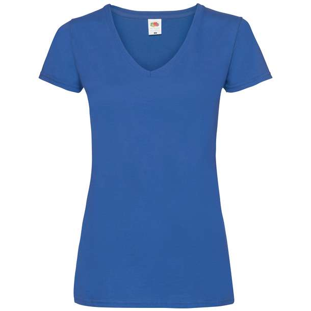 16.1398 F.O.L. - Lady-Fit Valueweight V-Neck T royal blue 450
