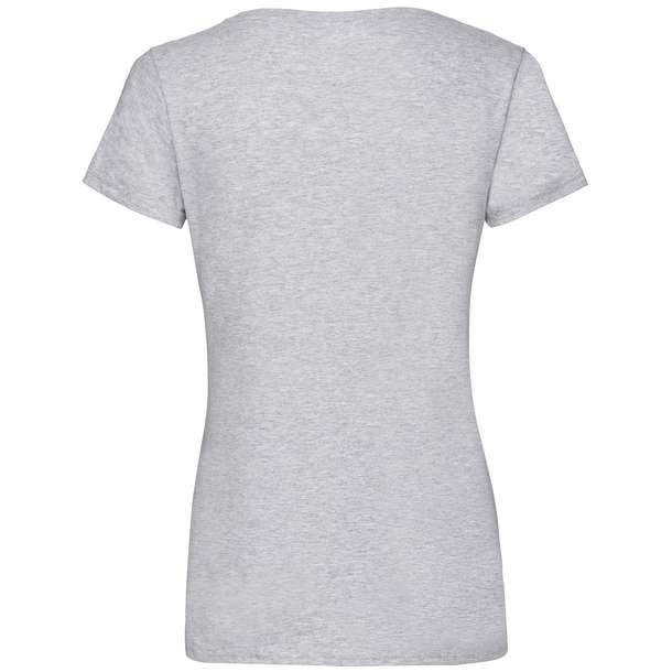 16.1398 F.O.L. - Lady-Fit Valueweight V-Neck T heather grey 610