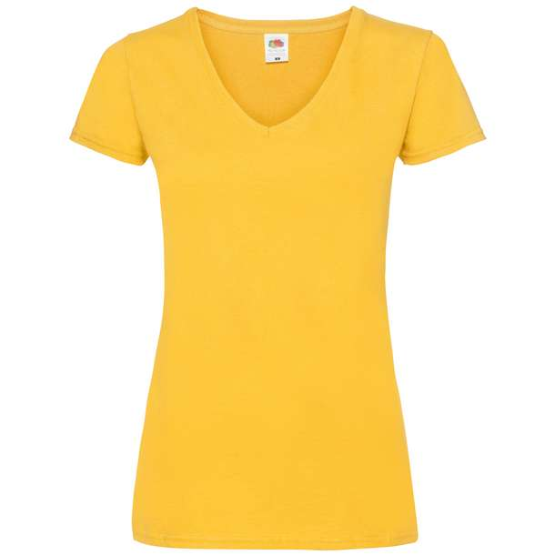 16.1398 F.O.L. - Lady-Fit Valueweight V-Neck T sunflower a39