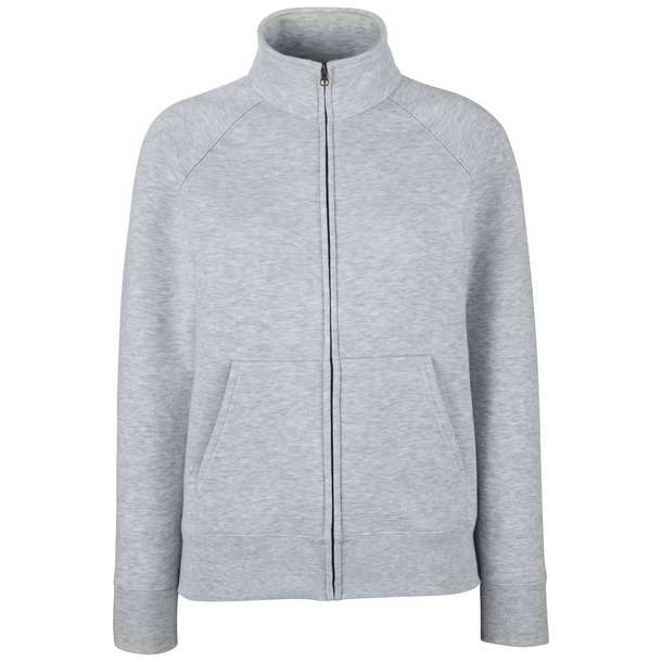 16.2116 F.O.L. - Premium Lady-Fit Sweat Jacket heather grey 610