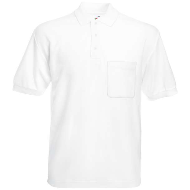 16.3308 F.O.L. - 65/35 Pocket Polo white 001