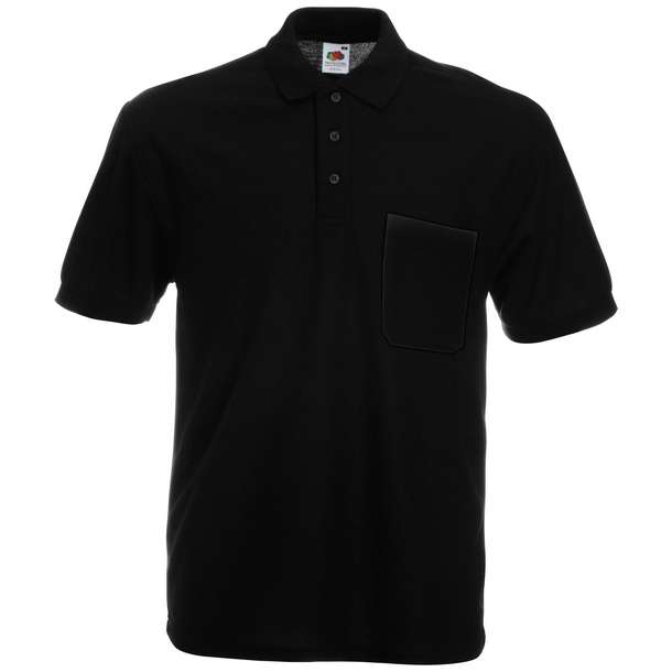 16.3308 F.O.L. - 65/35 Pocket Polo black 002