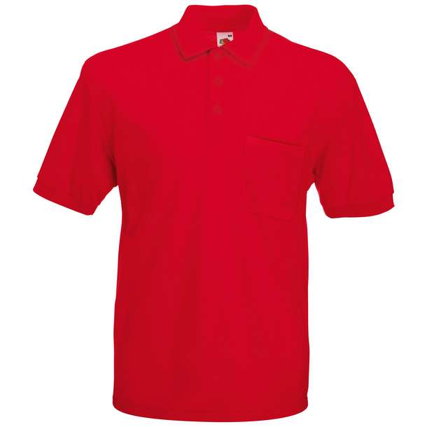 16.3308 F.O.L. - 65/35 Pocket Polo red 004