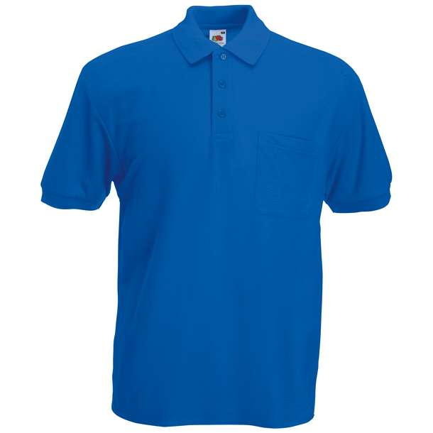 16.3308 F.O.L. - 65/35 Pocket Polo royal blue 450
