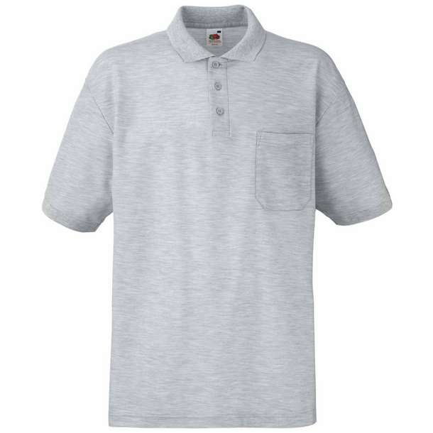 16.3308 F.O.L. - 65/35 Pocket Polo heather grey 610