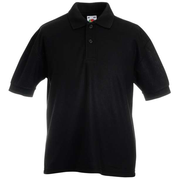16.3417 F.O.L. - Kids 65/35 Polo black 002
