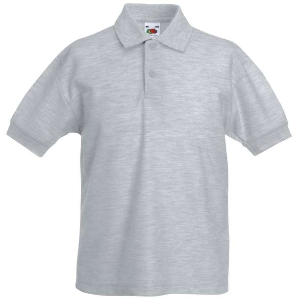 16.3417 F.O.L. - Kids 65/35 Polo heather grey 610