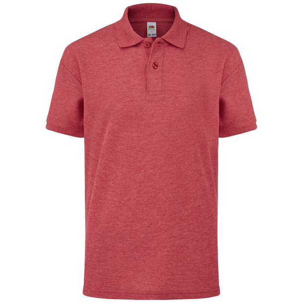 16.3417 F.O.L. - Kids 65/35 Polo vintage heather red u47