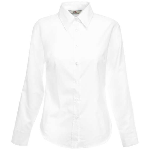 16.5002 F.O.L. - Lady-Fit Oxford Shirt LSL white 001