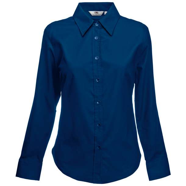 16.5002 F.O.L. - Lady-Fit Oxford Shirt LSL navy 003