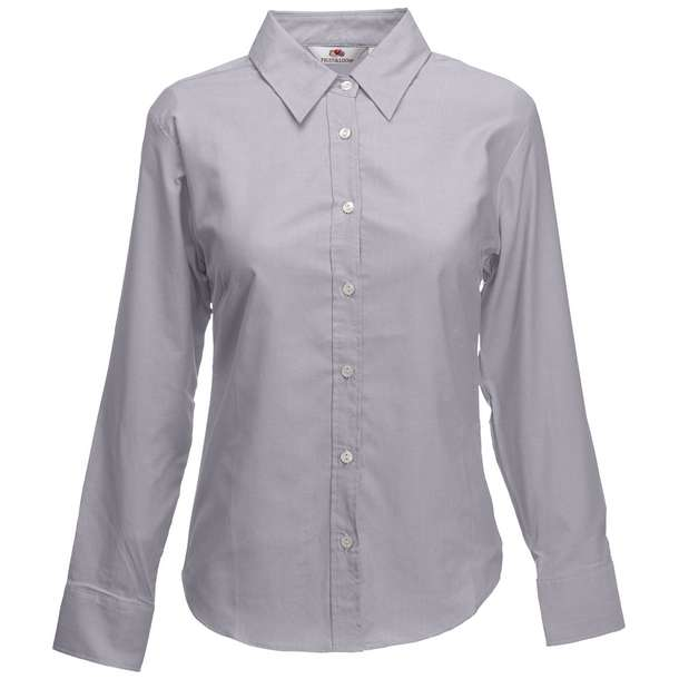 16.5002 F.O.L. - Lady-Fit Oxford Shirt LSL oxford grey 398