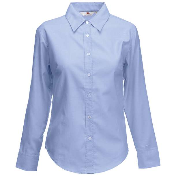 16.5002 F.O.L. - Lady-Fit Oxford Shirt LSL oxford blue 420